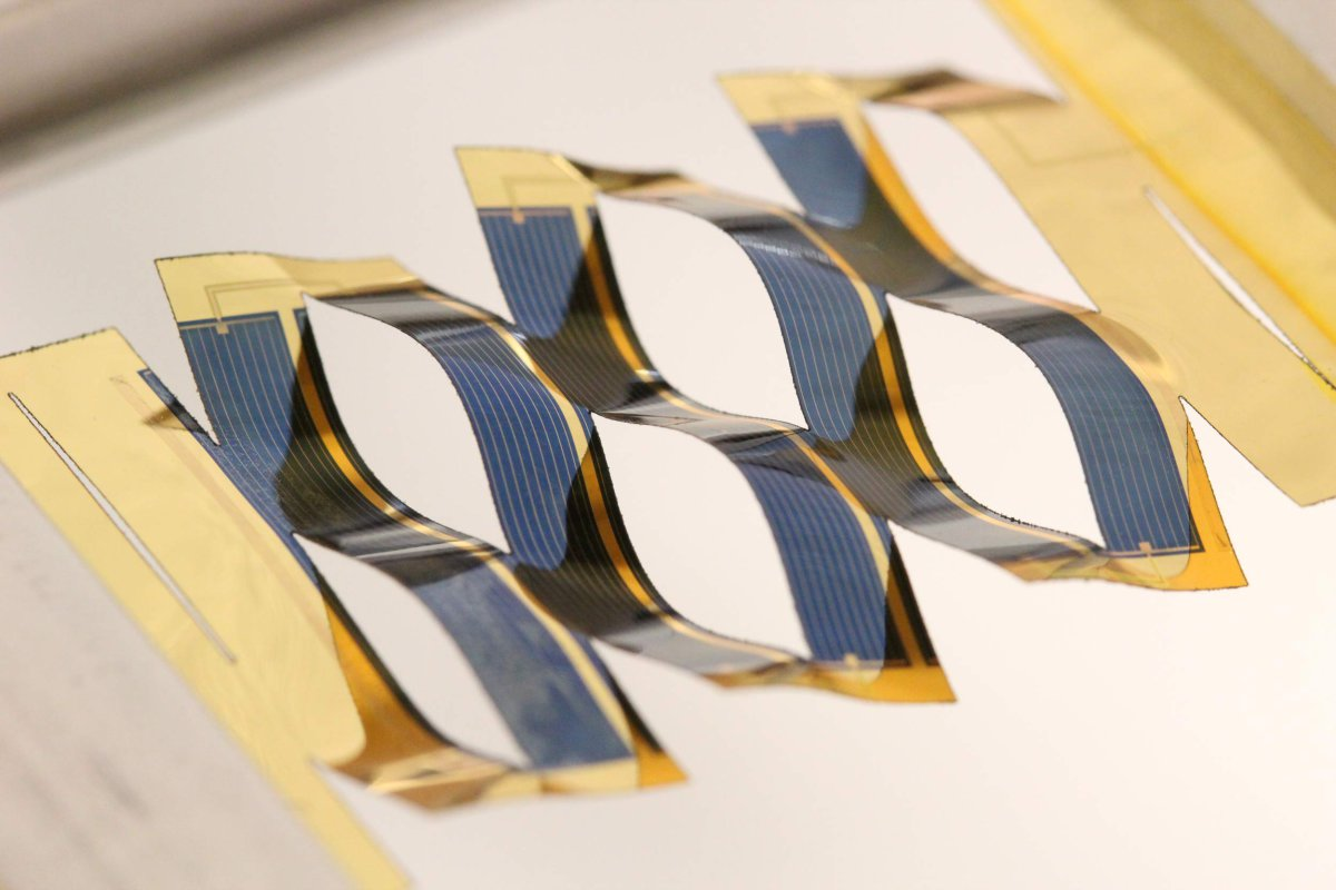 Paneles solares kirigami